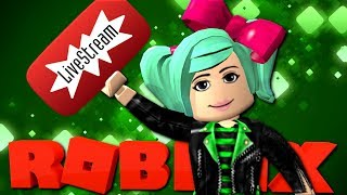 Roblox LIVE | Looking at YOUR profiles! Shout outs! SallyGreenGamer