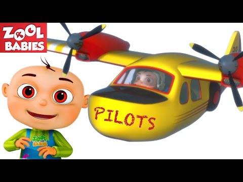 Zool Babies As Pilots Douse Forest Fire | Five Little Babies Series | Cartoon Animation For Children