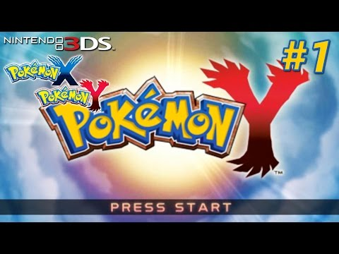 Pokémon X and Y - Playthrough Nintendo 3DS PART 1 (Intro / Aquacorde Town / Route 2 Avance Trail...)