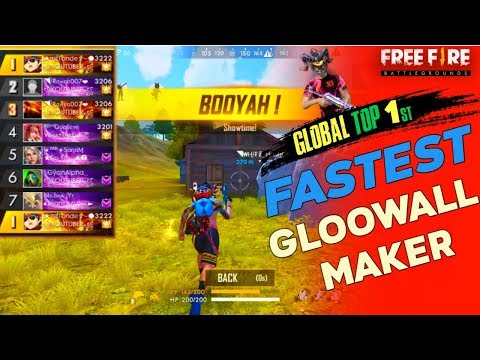Top Global 1st  Without Double Ranked Card- Free Fire Fastest Gloo Wall Maker- GaiTonde