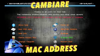 TUTORIAL PS3 ITA | COME CAMBIARE MAC SU PS3