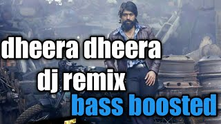 Dheera dheera psy trance| kgf song remix| bass boosted| dj rajav