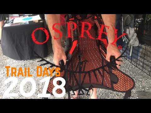 Trail Days 2018 Gear Vendors ~ Osprey Packs (New UL Pack & Exos Redesign)