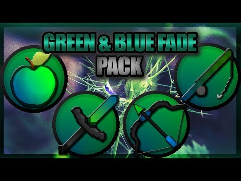 ★ Minecraft PvP Texture Pack l GREEN & BLUE FADE (1.7/1.8) ★