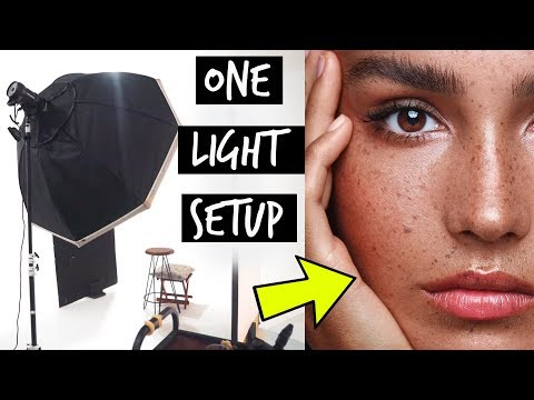 ONE LIGHT STUDIO SETUP For Beauty + Canon EOS R 180mm Macro