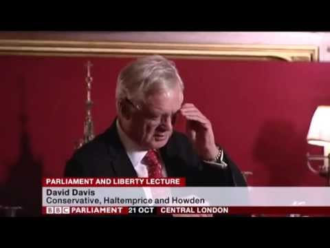 David Davis MP delivers lecture on Parliament and Liberty