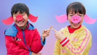 Kids Go to School Learn Colors with Three Little Pigs! Children Play Outdoor Games Kids Song