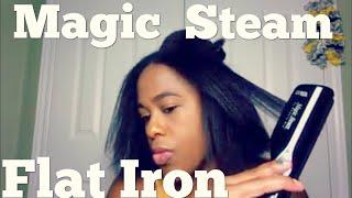 Magic Steam Pro Flat Iron Review | Straightening 4C Natural Hair