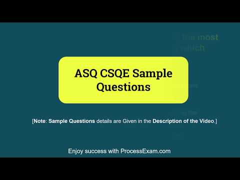 Get Ready to Prepare for ASQ Software Quality Engineer CSQE Certification