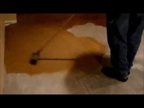 How To Apply Color To A Concrete Floor Using Brush Method - Www.SealGreen.com 800-997-3873