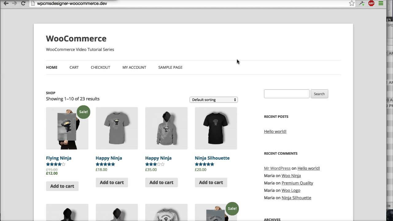 05 how to use shop page for homepage woocommerce for Homepage shop