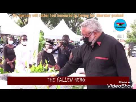 Official video of The Fallen Hero. A tribute poem to JJ Rawlings. By Issmuk the Gigantic