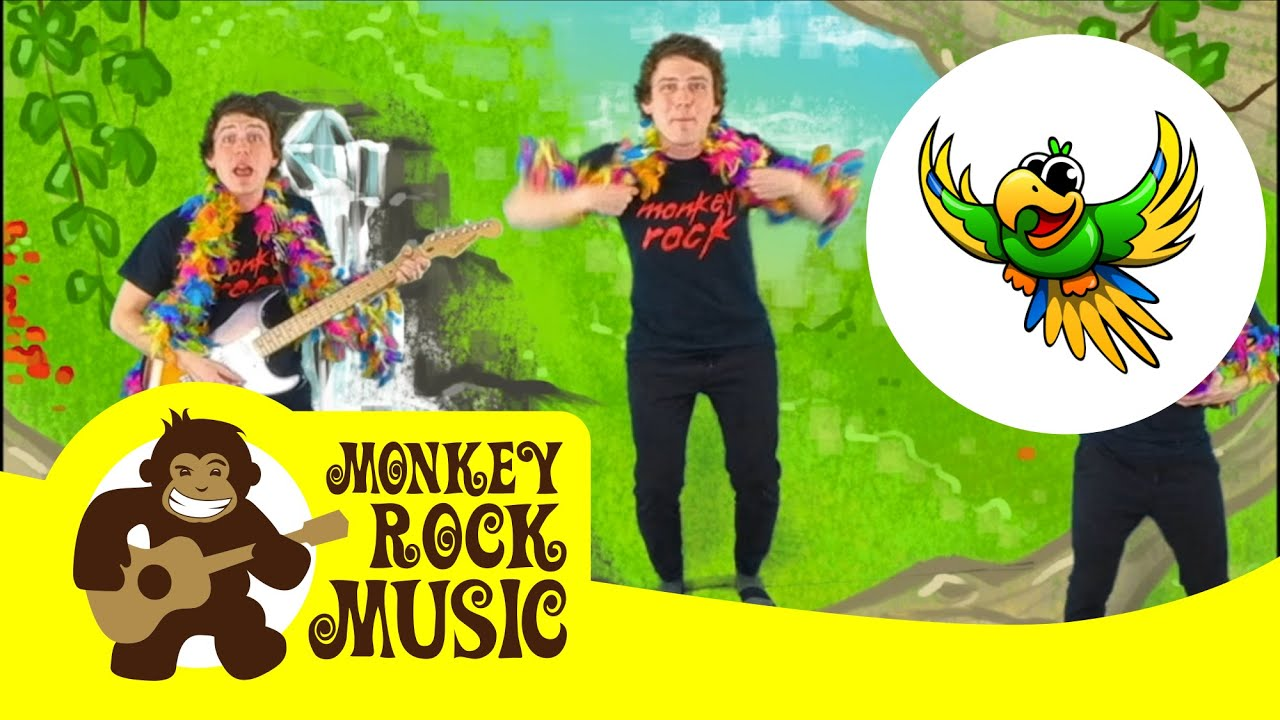 Flap Like A Parrot Monkey Rock Music Kids Dance Songs Nursery Rhymes Youtube