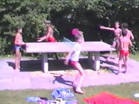 Itinger Badi und Dorf im Sommer 1986