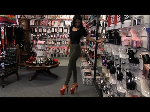 8556f800b4 Review Red Pleaser Flamingo 8 Inch High Heel Shoes - YouTube