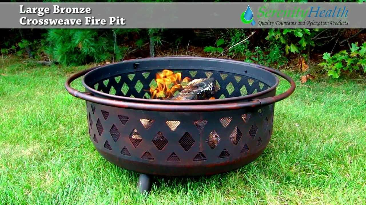 Large Bronze Crossweave Fire Pit From Serenity Health 610037d
