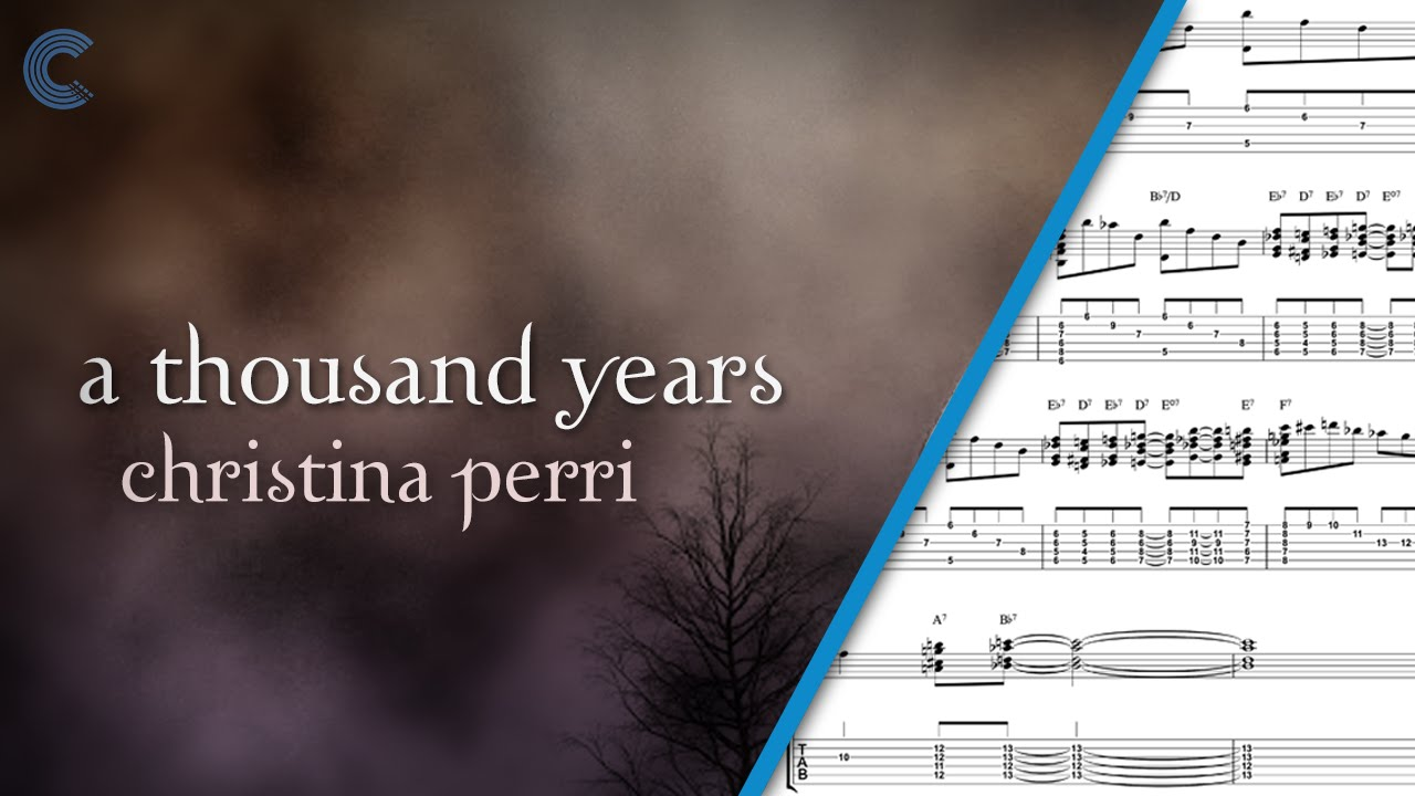 partitura piano thousand years pdf