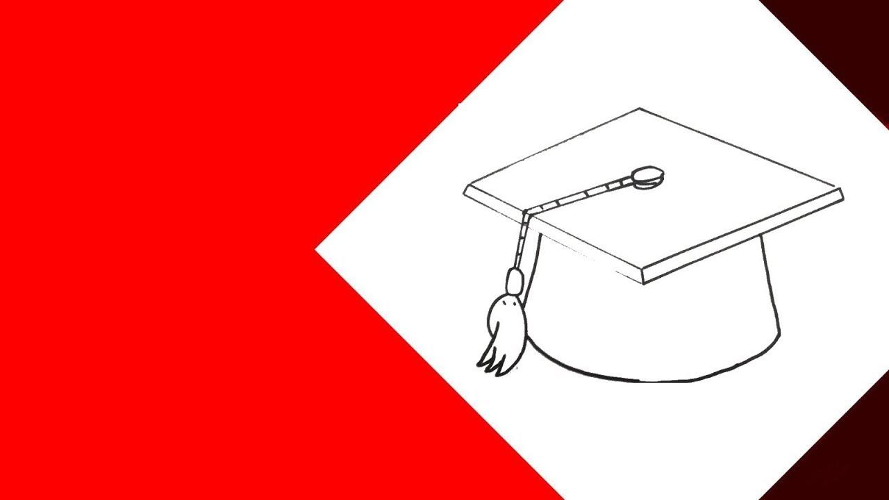 112244770ccab رسم - كيفية رسم قبعة تخرج بطريقة سهلة. تعلم الرسم للمبتدئين