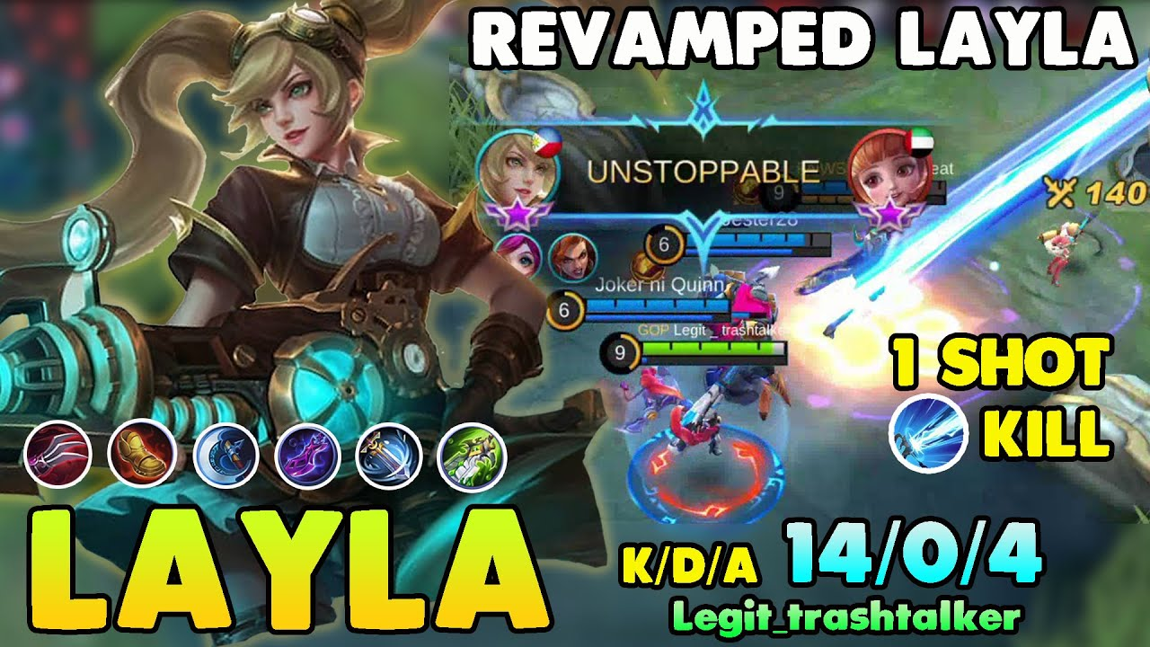 REVAMPED LAYLA!!LAYLA BEST BUILD 2020 - TOP GLOBAL LAYLA 2020