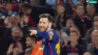 Lionel Messi Second Goal - Barcelona vs Leganes 2-0 (La Liga) 07/04/2018