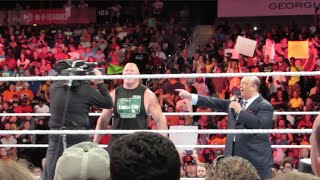 Brandon Hodge At WWE RAW 7/13/15 Atlanta, GA ROW 5