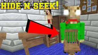 Minecraft: BALDI HIDE AND SEEK!! - Morph Hide And Seek - Modded Mini-Game