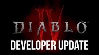 Diablo 4 UPDATE from David Kim!!
