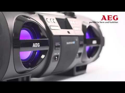 AEG SR 4360 BT 2 1 Stereo Radio Soundbox CD MP3 mit Bluetooth