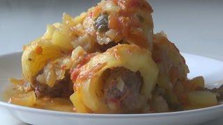 Фаршированный Картофель. Картошка с Мясом в Мультиварке.|Картошка с Мясом в Мультиварке Слоями