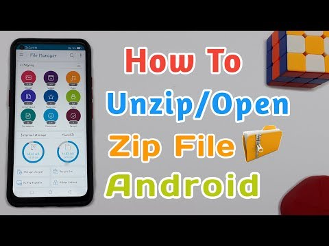 How To Unzip/Open Zip File In Android | How To Extract Zip File On Android