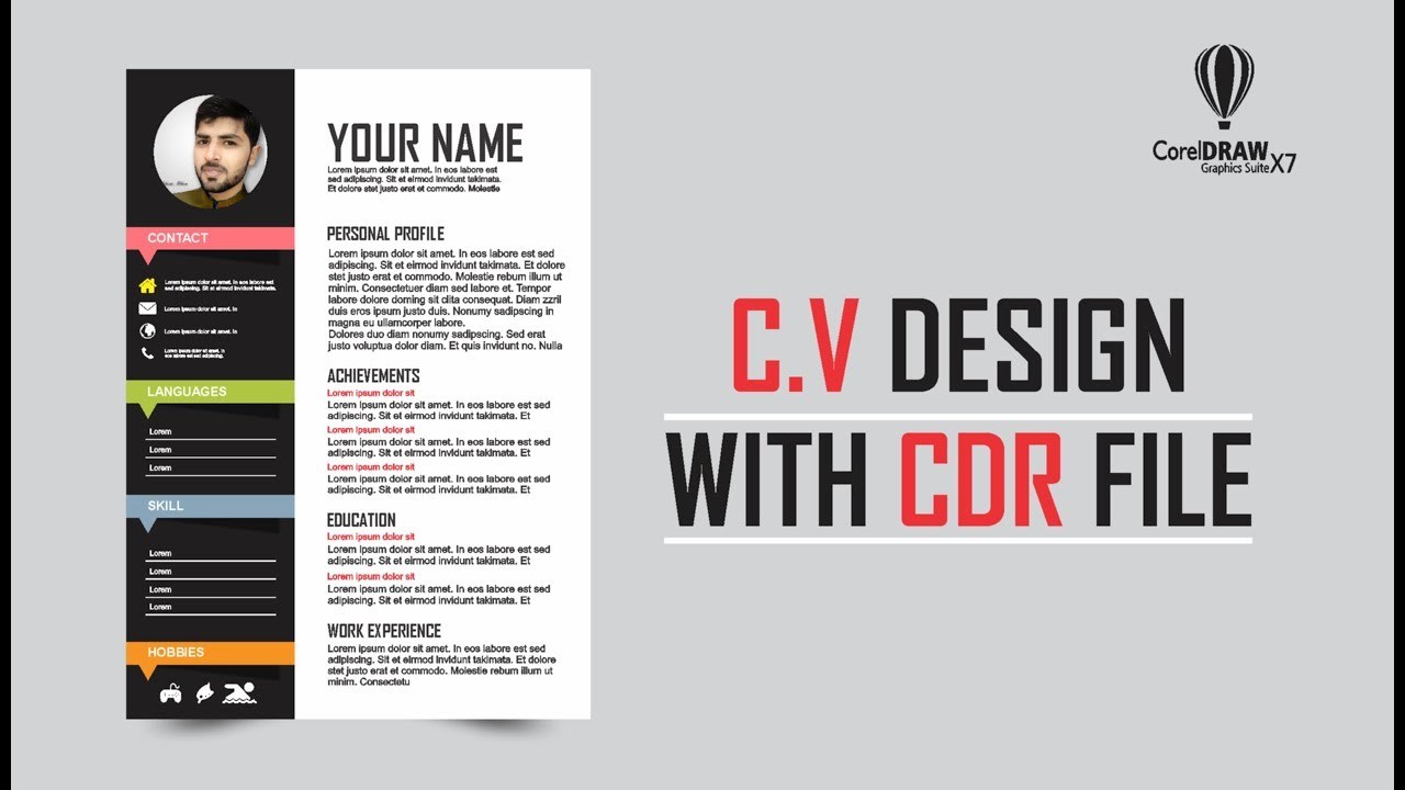 How To Make Cv Curriculum Vitae Design In Coreldraw X7 With Font