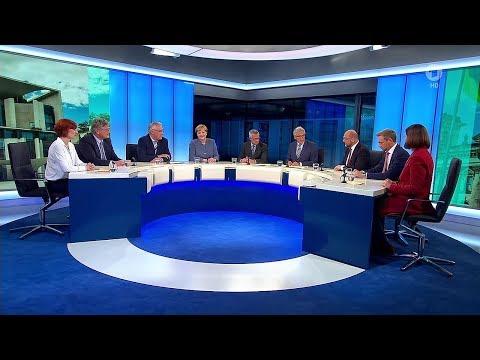 Elefantenrunde 2017: Berliner Runde erstmals mit der AfD [ARD, 24.09.2017]