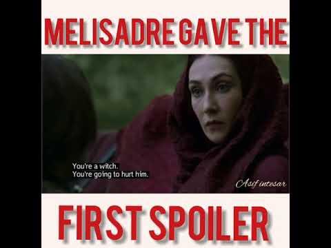 What Melisandre Told To Arya Stark Youtube