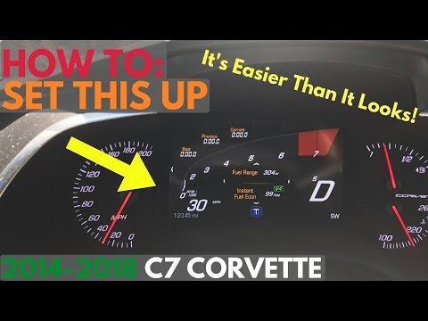 How To Configure C7 Corvette Digital Instrument Cluster