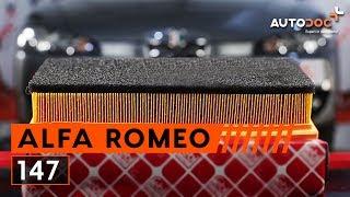 Как да сменим Въздушен филтър за двигател на ALFA ROMEO 147 [ИНСТРУКЦИЯ]