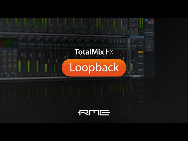 Easy Setup of Loopback in TotalMix FX