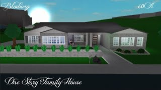 Roblox| Welcome to Bloxburg| Speedbuild| One Story Family/ Roleplay House! 60K