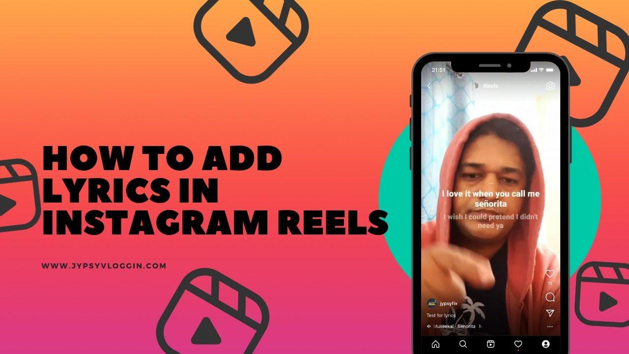 How to add lyrics in Instagram reels - YouTube