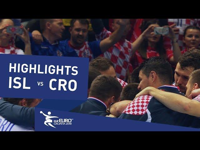 Highlights | Iceland vs Croatia | Men's EHF EURO 2018