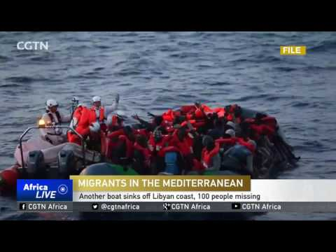 Another boat sinks off Libyan coast, 100 people missing
