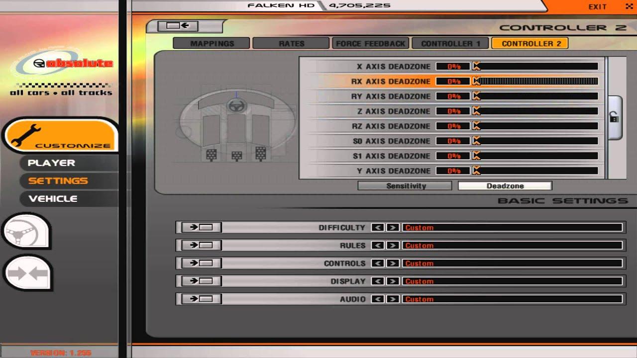 rFactor, LFS, & Logitech G27 Profiler FFB Settings - Falken HD