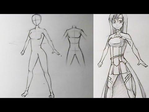 видео: Как нарисовать женское тело