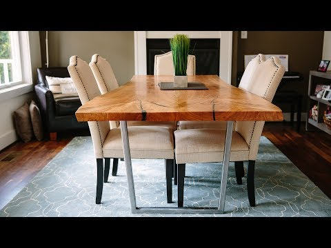 Bookmatched Live Edge Cherry Table | Woodworking