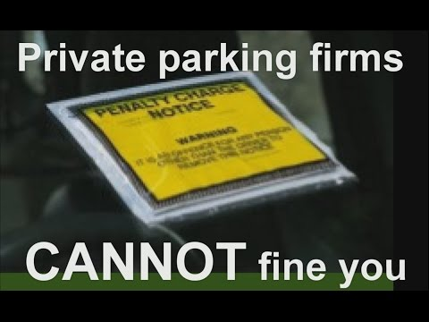 Private parking firms CANNOT fine you