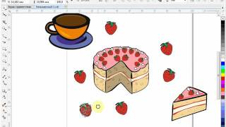 CorelDraw для начинающих. 20. Интерактивная заливка. Ч.5 Создание полноцветного узора (бесшовный)