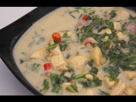 Paano magluto Ginataang Dahon ng Gabe at Manok Recipe Tagalog Pinoy Filipino Chicken Spinach