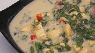 Ginataang Dahon Ng Gabe At Manok Recipe Tagalog Pinoy Filipino Chicken Spinach