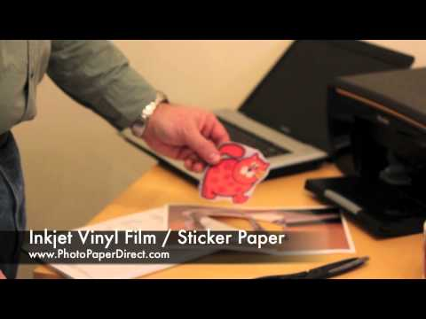 photo about Printable Vinyl Sticker Paper identified as Inkjet Vinyl Motion picture / Sticker Paper As a result of Image Paper Lead