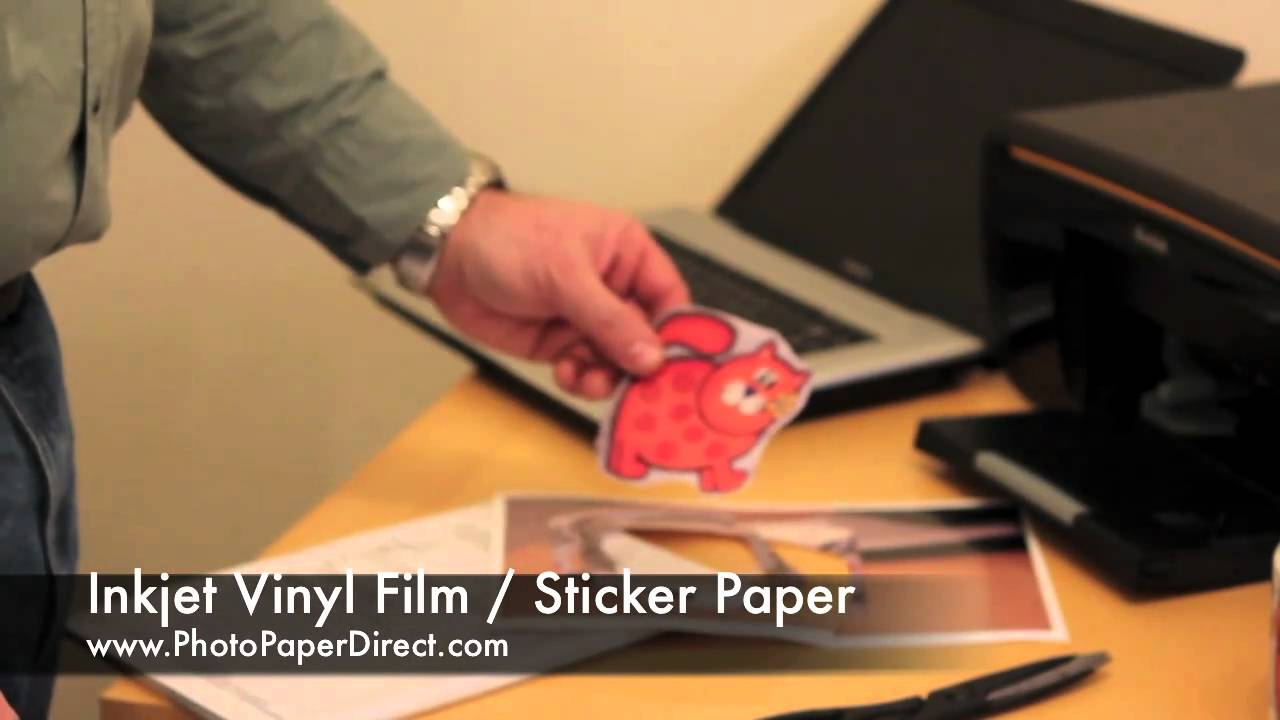 picture regarding Printable Sticker Vinyl known as Inkjet Vinyl Movie / Sticker Paper As a result of Image Paper Guide