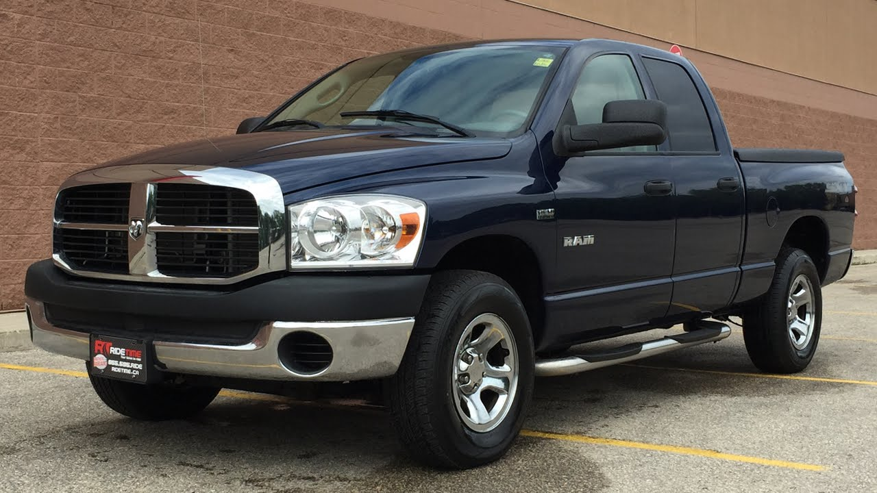 2008 dodge ram 1500 sxt running boards tonneau cover tow pkg youtube. Black Bedroom Furniture Sets. Home Design Ideas